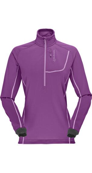 Norrøna W's Bitihorn Powerdry Shirt Purple Rain